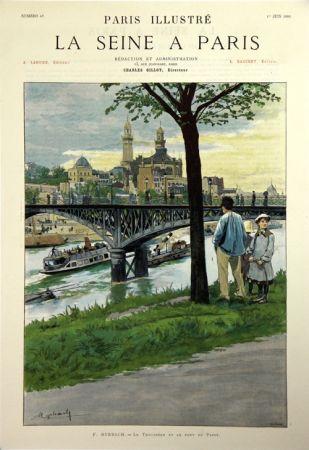 リトグラフ Grasset - Le Trocadero et le Pont de Passy