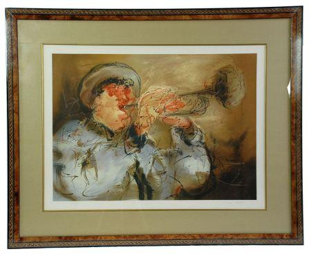 リトグラフ Urdin  - Le Trompettiste - The Trumpeter