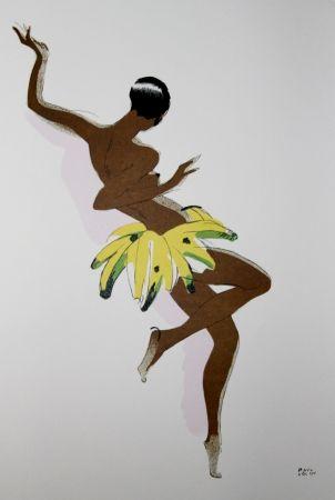 リトグラフ Colin - LE TUMULTE NOIR / BLACK THUNDER - Joséphine Baker - 1927