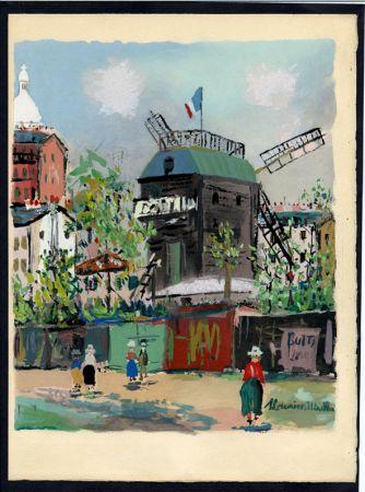 挿絵入り本 Utrillo - LE VILLAGE INSPIRÉ. Avec 12 gouaches par Maurice Utrillo (1954).