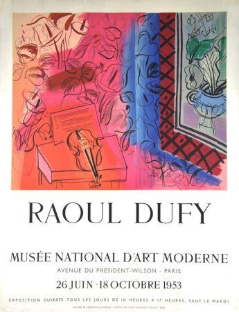 リトグラフ Dufy - Le Violon  Exposition  Mourlot