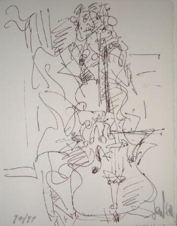 リトグラフ Paul  - Le violoncelliste