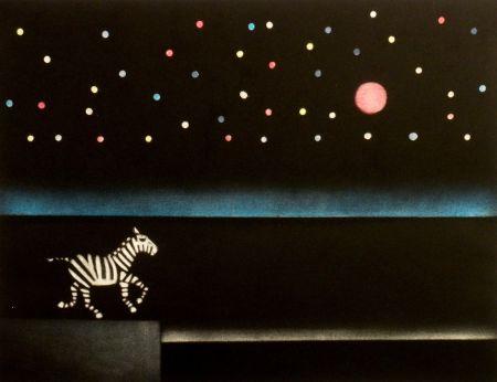 メゾチント彫法 Avati - Le zebre a Antibes
