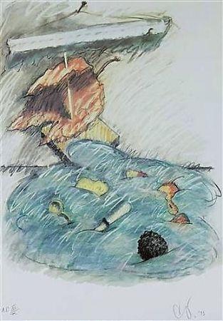 リトグラフ Oldenburg - Leaf Boat-Storm In The Studio
