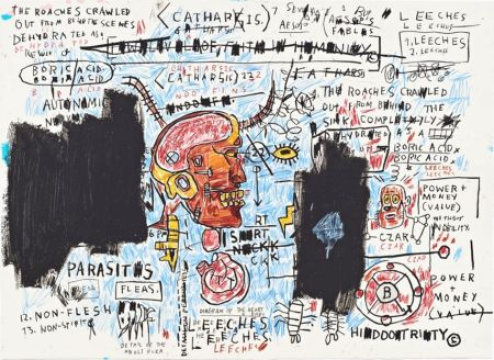 シルクスクリーン Basquiat - Leeches