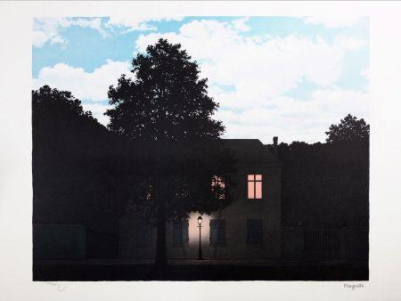 リトグラフ Magritte - L'Empire des Lumières