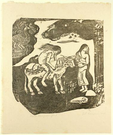 木版 Gauguin - L'Enlèvement d'Europe