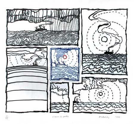 彫版 Alechinsky - L'envie De Partir