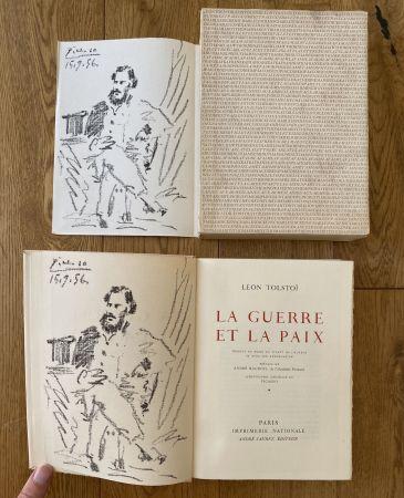 リトグラフ Picasso - Leon Tolstoi