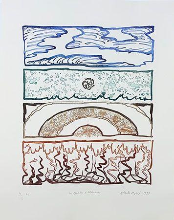 彫版 Alechinsky - Les 4 éléments