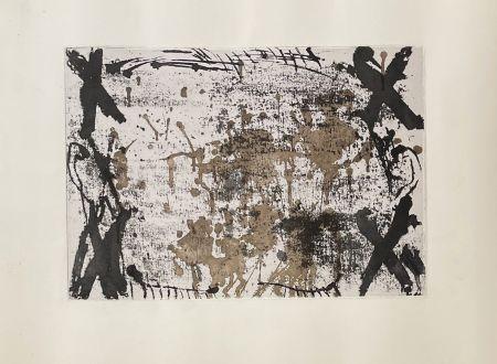 彫版 Tàpies - Les 4 croix