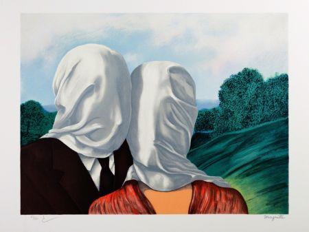 リトグラフ Magritte - Les Amants