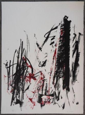 リトグラフ Mitchell - Les arbres en rouge