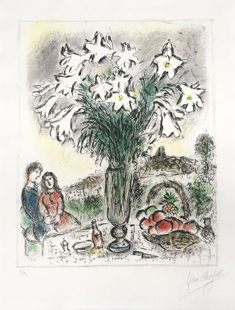 リトグラフ Chagall - Les Arums
