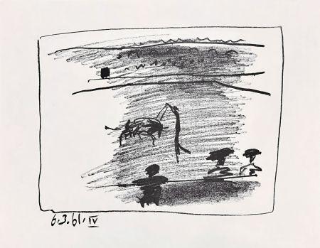 リトグラフ Picasso - Les Banderillas