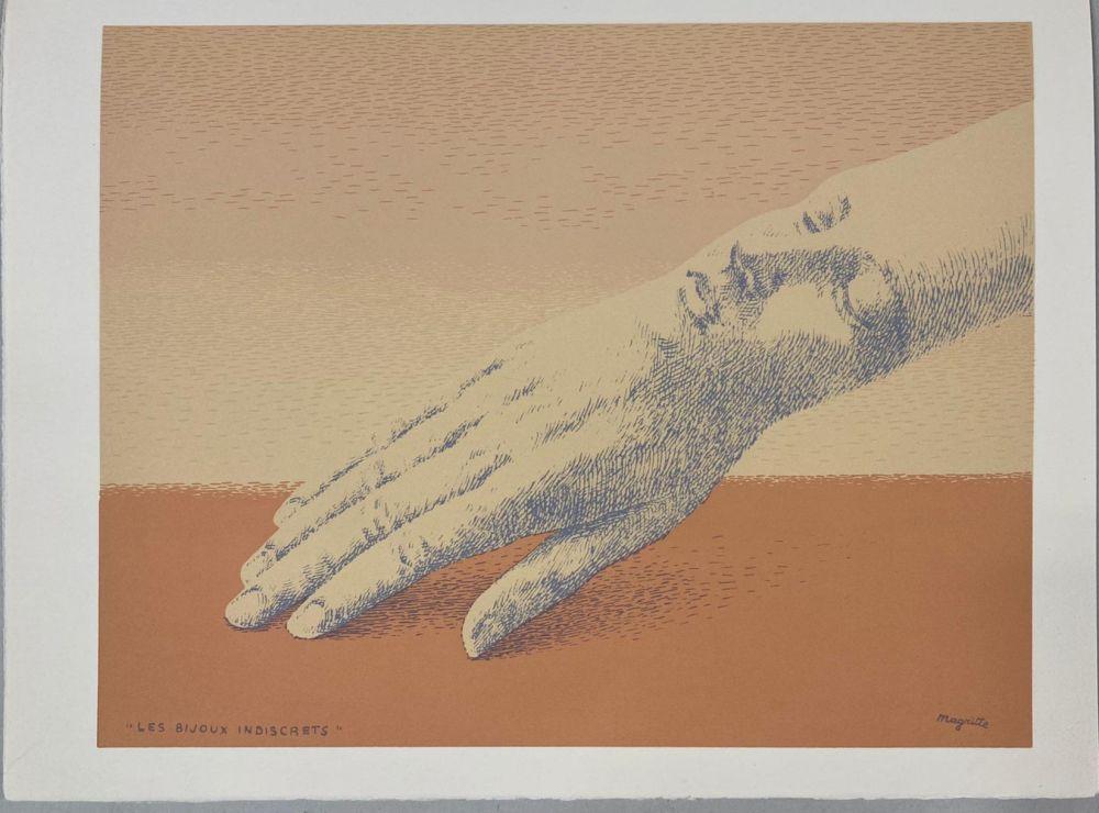 リトグラフ Magritte - Les bijoux indiscrets