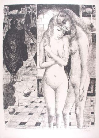 リトグラフ Delvaux - Les Captives