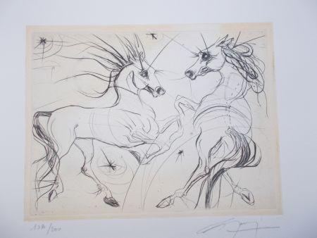 彫版 Guiny - Les chevaux du printemps