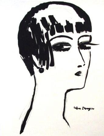 リトグラフ Van Dongen - Les Cheveux Courts