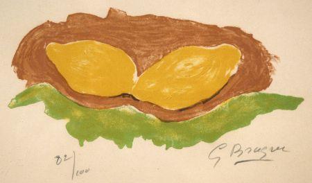 リトグラフ Braque - Les citrons