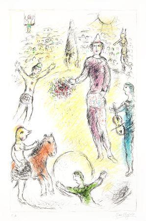 リトグラフ Chagall -  Les Clowns Musiciens (Musical Clowns)