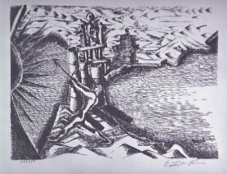 リトグラフ Zadkine - Les Colonnes d'Hercule