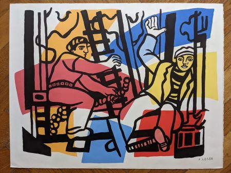 リトグラフ Léger (After) - Les constructeurs