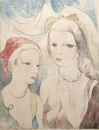 リトグラフ Laurencin - Les deux anges