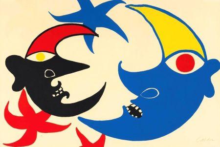 リトグラフ Calder - Les deux lunes