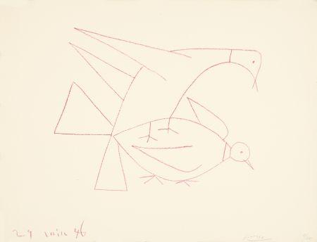 リトグラフ Picasso - Les deux tourterelles, I