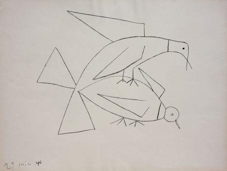 リトグラフ Picasso - Les Deux Tourterelles II (B. 406)