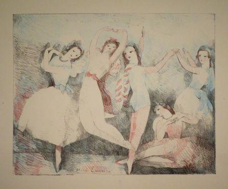 リトグラフ Laurencin - Les fêtes de la danse