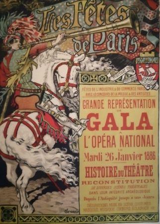 リトグラフ Grasset - Les Fêtes de Paris