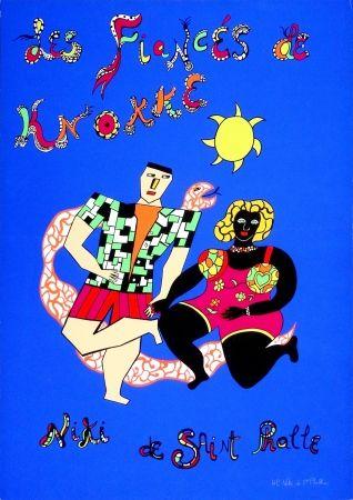 シルクスクリーン De Saint Phalle - Les fiancés de Knokke