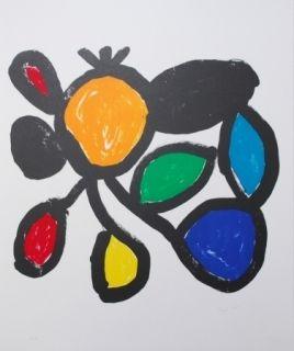リトグラフ Ionesco - Les fleurs
