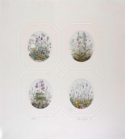エッチング Hauck - Les Fleurs - Flowers