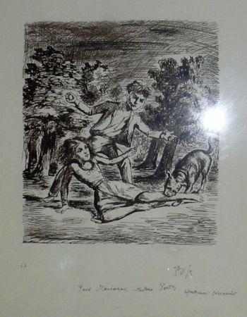 リトグラフ Balthus - Les hauts de hurlevent
