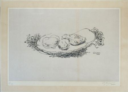 リトグラフ Braque - Les Huitres