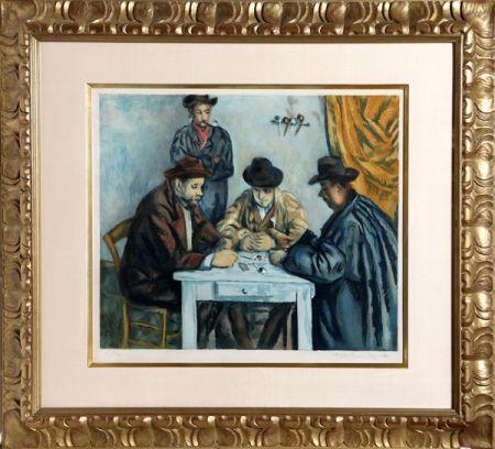 アクチアント Villon - Les Joueurs des Cartes (The Card Players) after Cezanne
