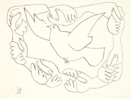 リトグラフ Picasso - Les mains liées III