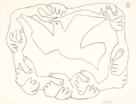 リトグラフ Picasso - Les mains liées IV
