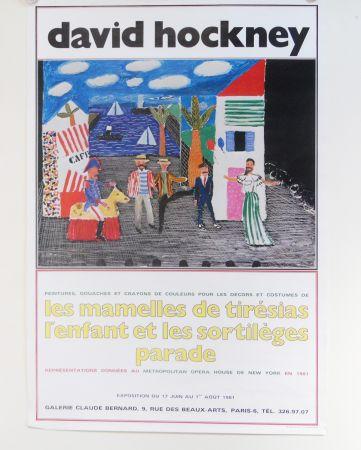 オフセット Hockney - Les Mamelles De Tiresias L'enfant Et Les Sortileges Parade