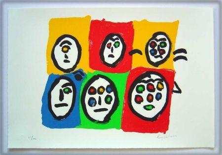 リトグラフ Ionesco - Les multi-yeux