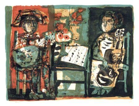 リトグラフ Clavé - Les musiciens
