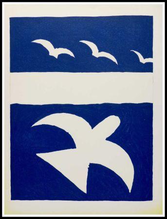 リトグラフ Braque (After) - LES OISEAUX