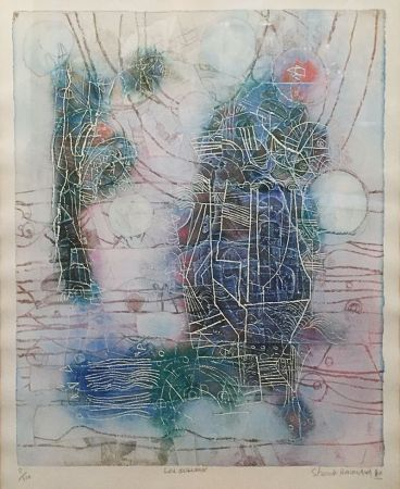 リトグラフ Hasegawa - «Les Oiseaux»