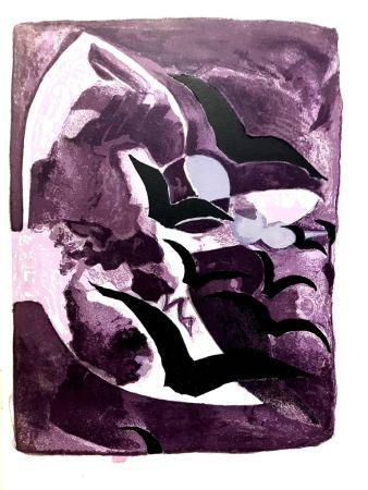 リトグラフ Braque - Les Oiseaux de Nuit