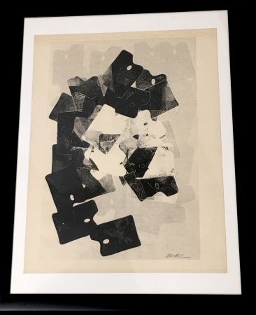 モノタイプ Arman - Les Palettes De Viallalt, 1966