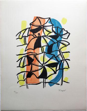 リトグラフ Leger - LES PARAPLUIES (La Ville, 1959)