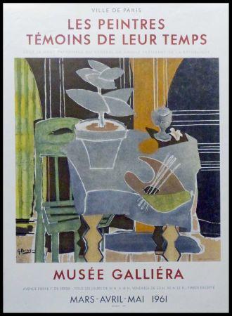 リトグラフ Braque - LES PEINTRES TEMOINS DE LEUR TEMPS